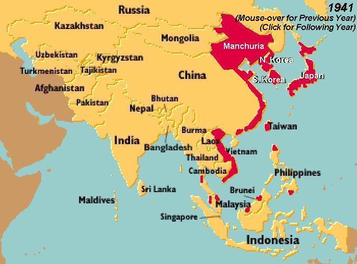Map Of Asia 1941.World War Ii