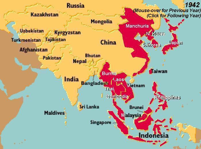 Map Of Asia During Ww2.World War Ii