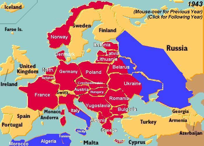 Current Map Of Europe And Asia.World War Ii